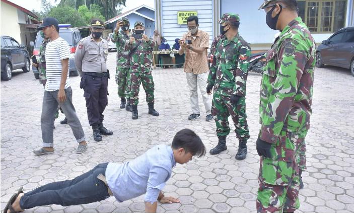 Satgas Covid-19 Aceh Tamiang Gelar Razia Masker, 76 Warga Terjaring