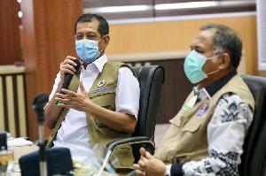 Plt Gubernur Aceh dan Doni Monardo Vidcon dengan Satgas Covid-19 kabupaten/kota
