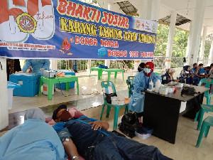 HUT ke-60, Karang Taruna Aceh Tamiang Gelar Donor Darah dan Bagi  Masker