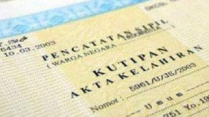 Keseluruhan di Indonesia Kepemilikan Akta Kelahiran Capai 92,85%