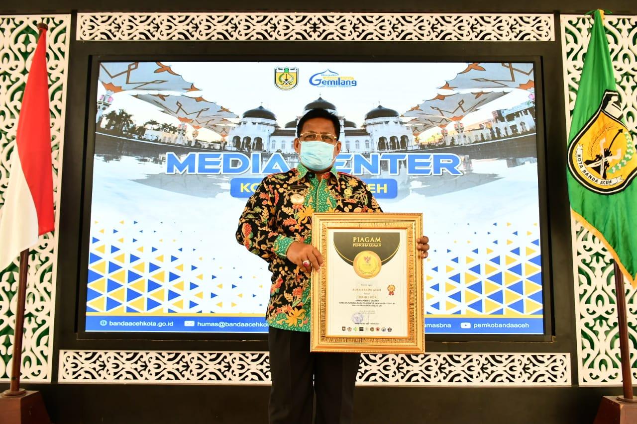 Wali Kota Terima Penghargaan Inovasi Daerah dari Mendagri