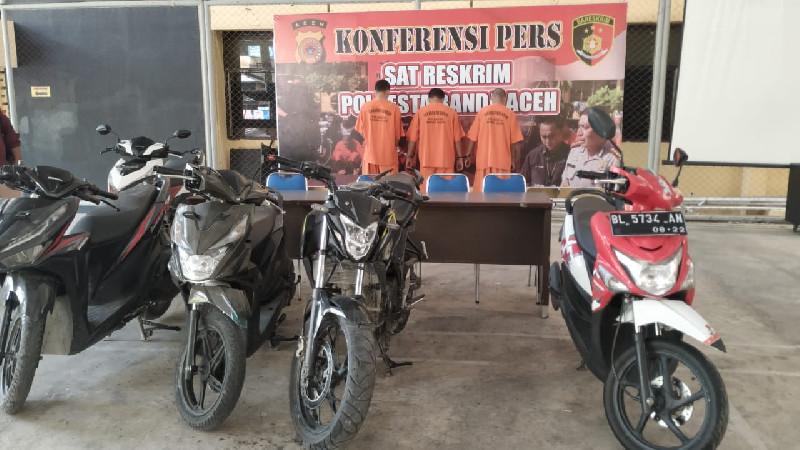 3 Tersangka Curanmor di Banda Aceh Ditangkap, 5 Orang DPO