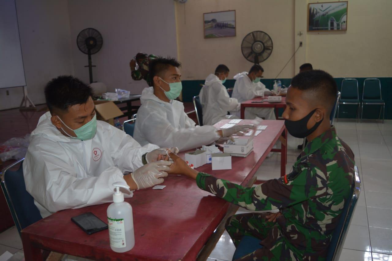 Kodim 0103/Aceh Utara Laksanakan Rapid Test Cegah Penularan Virus Covid – 19