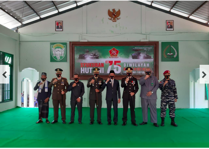 HUT ke-75 TNI Dandim dan Forkopimda di Aceh Selatan Mengikuti Peringatan di Makodim