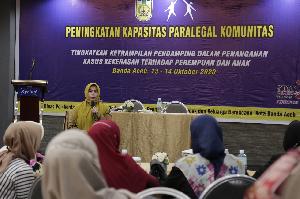 DP3AP2KB Banda Aceh Latih Paralegal Komunitas, Target Dampingi Korban Kekerasan