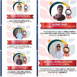 5 Pelajar Aceh Boyong Medali Pada KSN Tingkat Nasional 2020