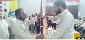 Muzakir Manaf Lantik Pengurus KONI Aceh Singkil periode 2020 – 2024