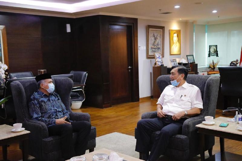 Gubernur Aceh Bertemu Menko Luhut Terkait Investasi Pariwisata UEA