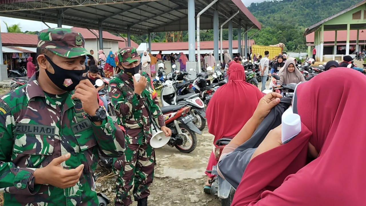 Satgas Covid 19 Kodim 0110/Abdya Budayakan Patroli Dan Sosialisasi