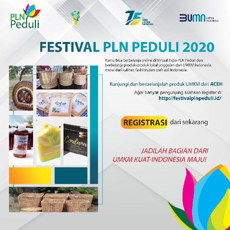 PLN Aceh Kirim 2 UMKM di Festival PLN Peduli, Begini Cara Dukungnya