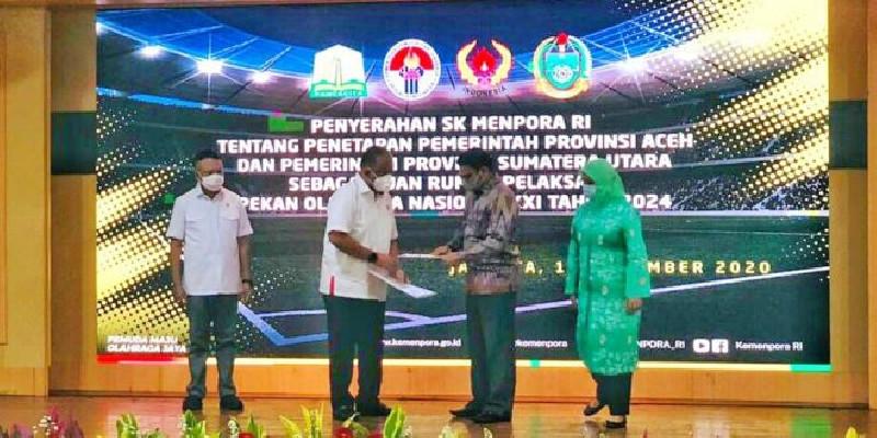 Aceh dan Sumut Ditetapkan sebagai Tuan Rumah PON XXI Tahun 2024