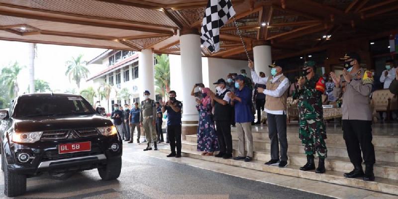 Gubernur Nova dan Forkopimda Aceh Lepas Rombongan GEMAS