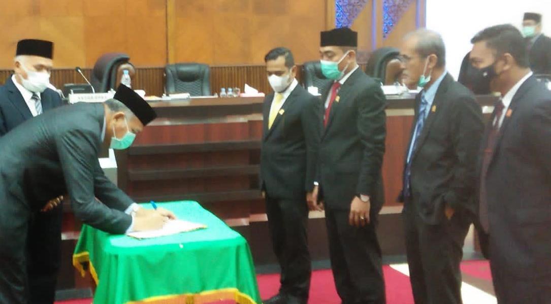 DPRA Terima LPJ, Gubernur Ucapkan Terima Kasih