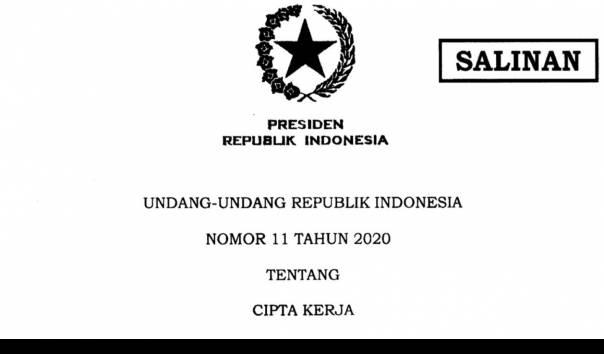 Jokowi Teken UU Cipta Kerja, Sah Berlaku