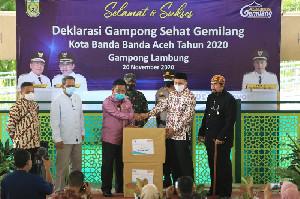 """Wali Kota Banda Aceh Deklarasikan Lambung """"Gampong Ceudah"""""""