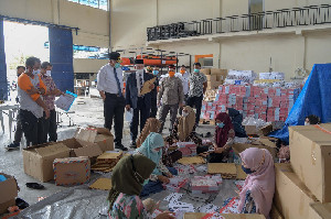 Gubernur Aceh Tinjau Kesiapan Logistik Gemas di BPBA