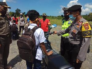 Polres Aceh Besar Gelar Razia Masker dan Rapid Test