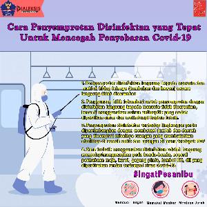 Cara Penyemprotan Disinfektan Yang Tepat Untuk Mencegah Penyebaran Covid-19