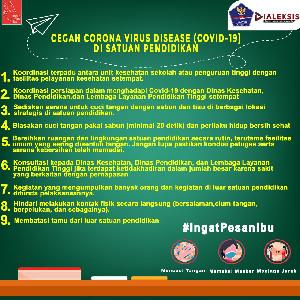 Cegah Corona Virus Disease (Covid-19) Di Satuan Pendidikan