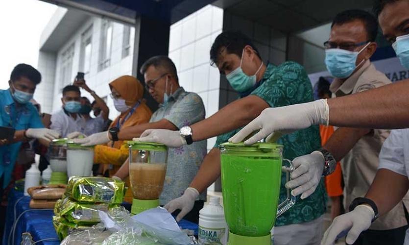 BNN Aceh Musnahkan 8,29 kilogram Sabu Bernilai Rp10 Miliar