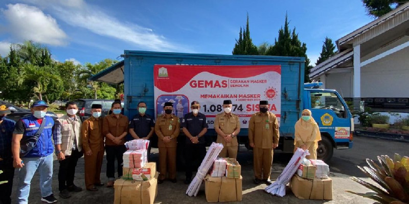 GEMAS di Aceh Tengah, Dinsos Aceh Distribusikan 39.125 Masker Kain dan 10.785 Masker Medis