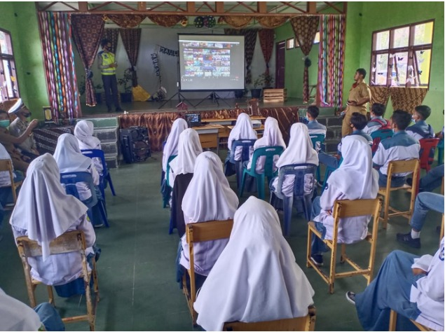 Ditlantas Polda Aceh Sosialisasi Lalu Lintas Melalui Zoom Meeting