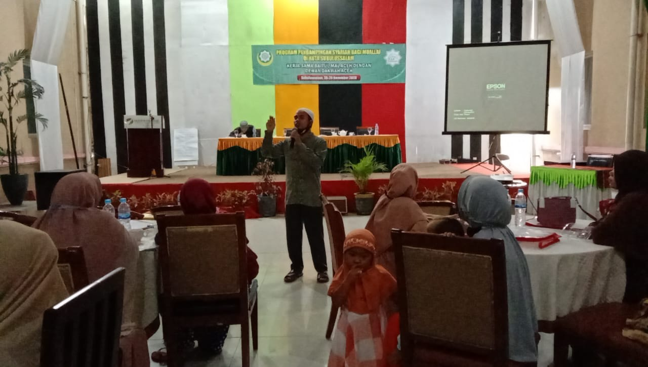 40 Muallaf di Subulussalam Didampingi Baitul Mal Aceh dan Dewan Dakwah