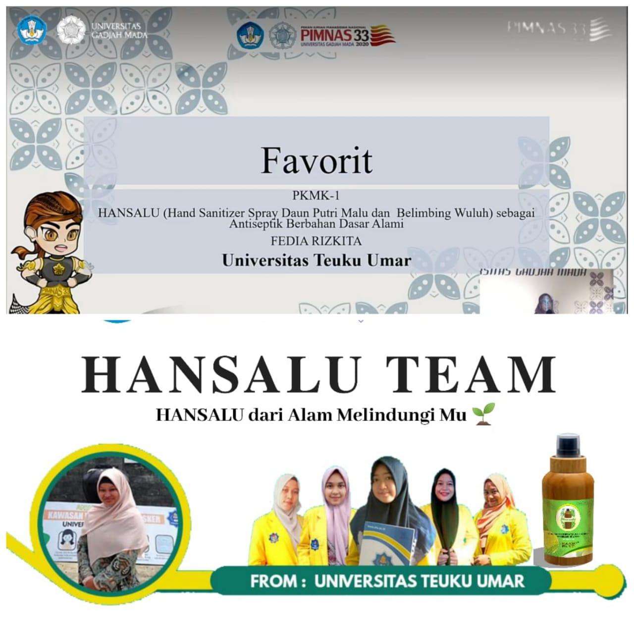 Implementasi Kampus Merdeka: Mahasiswa UTU Raih Juara Favorit PIMNAS