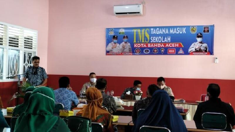 Tagana Banda Aceh Sosialisasi Edukasi  Mitigasi Bencana ke Sekolah-Sekolah