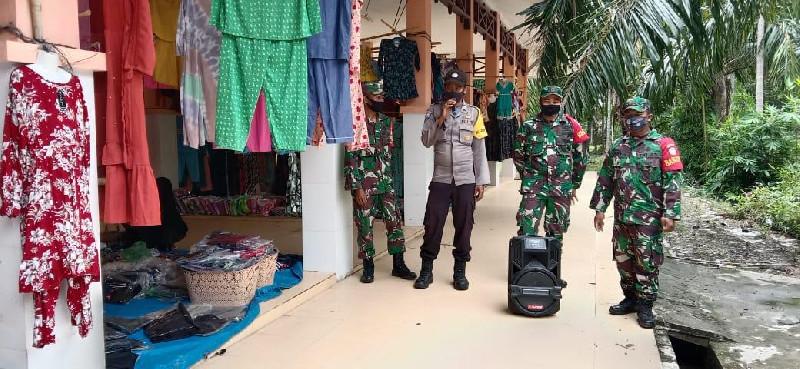 TNI/Polri dan Dinas Terkait Terus Bersinergi Lakukan Patroli Pembinaan Prokes