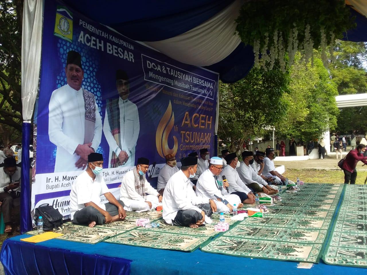 Peringati 16 Tahun Tsunami, Pemkab Aceh Besar Gelar Doa Bersama di Kuburan Massal Siron