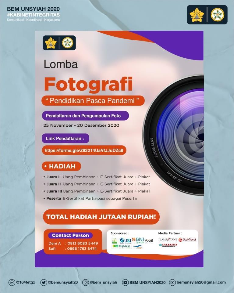 BEM Unsyiah Gelar Lomba Fotografi se-Aceh, Catat Deadline dan Temanya