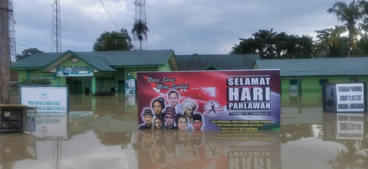 Aktivitas Kantor Pemerintah Aceh Utara Lumpuh Akibat Banjir