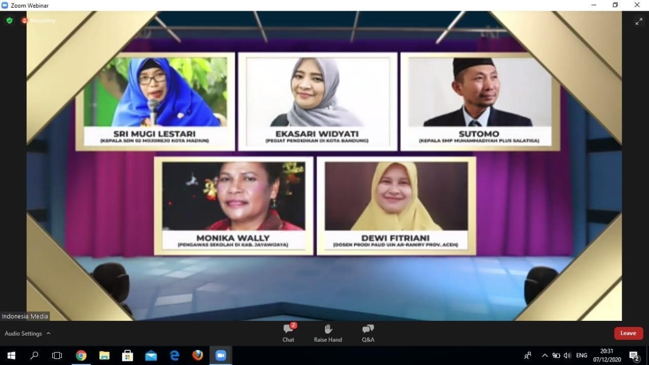 Dewi Fitriani, Dosen PIAUD UIN Ar-Raniry Raih Penghargaan dari Kemendikbud RI