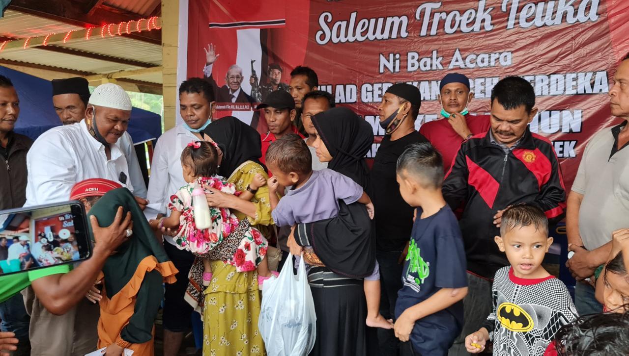 Orasi Politik dan Santunan Anak Yatim Warnai Milad GAM ke 44 Daerah IV Batee Iliek