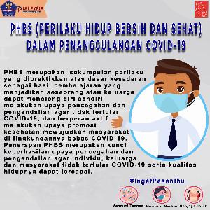 PHBS (Perilaku Hidup Bersih dan Sehat)  dalam penanggulangan COVID-19