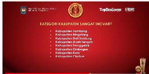 Aceh Tengah Dapat Penghargaan Dari Mendagri Sebagai Kabupaten Sangat Inovatif