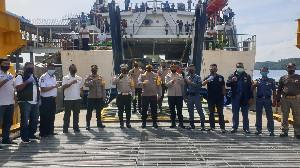 Karoops dan Dirlantas Polda Aceh  Cek Pos Ops Lilin di Sabang
