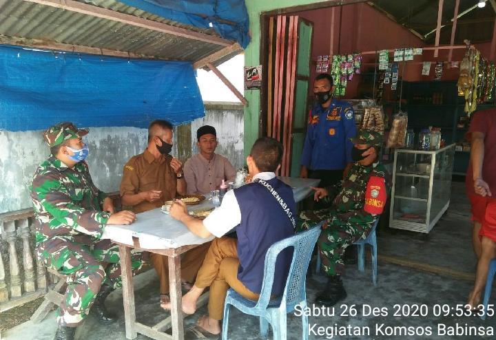 Babinsa Kodim 0107 Komsos Sosialisasi Prokes kepada Warga Desa Binaan