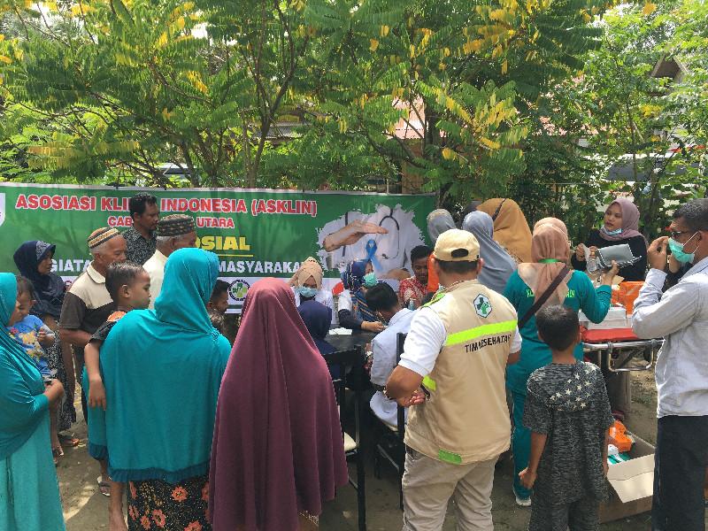 ASKLIN Aceh Utara Gelar Baksos Pengobatan Gratis untuk Korban Banjir