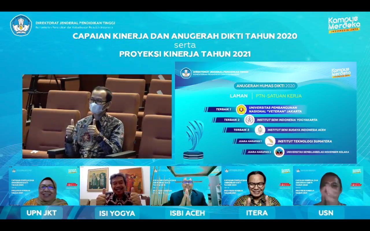 ISBI Aceh Raih Penghargaan Anugerah Humas Dikti 2020
