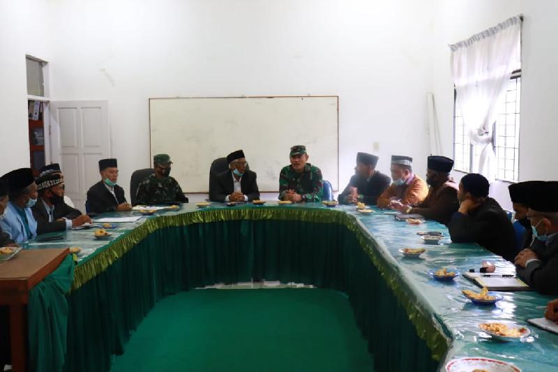 Dandim 0106/Ateng dan MPU Aceh Tengah Silaturahmi Bersama