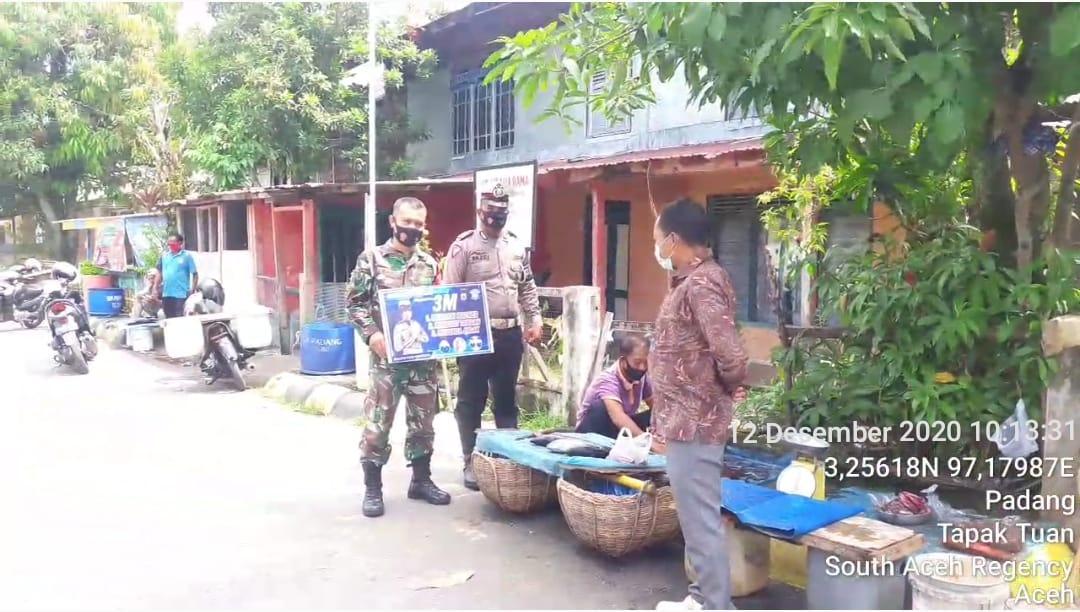 Personil TNI/Polri di  Aceh Selatan Gencar Sosialisasi Prokes
