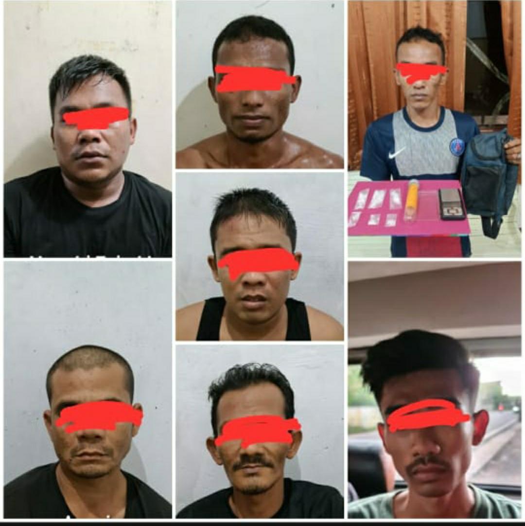 Satresnarkoba Polresta Banda Aceh Ringkus 7 Tersangka Narkotika, Salah Satunya Residivis