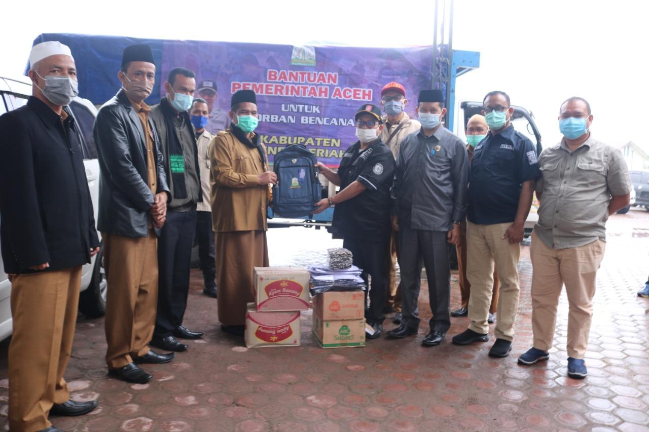 Banjir Bandang dan Longsor Landa Bener Meriah, Pemerintah Aceh Salurkan Bantuan