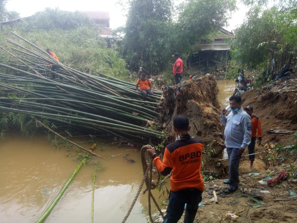 Pasca Banjir Langsa, BPBD Tangani Longsor dan Abrasi Sungai