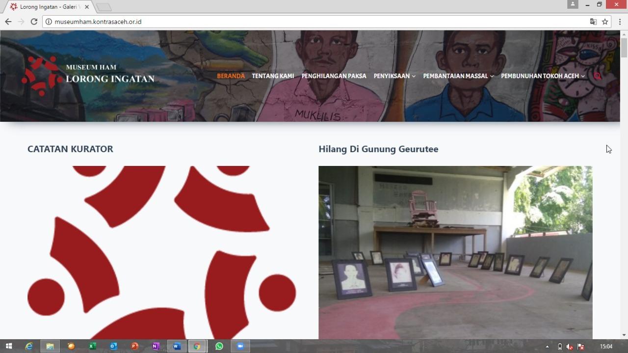 Melawan Lupa, KontraS Aceh Launcing Museum HAM Virtual: Lorong Ingatan