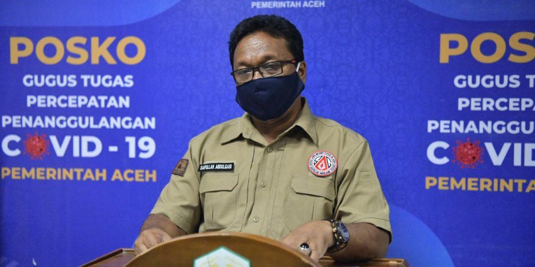 Angka Kesembuhan Covid-19 Aceh Lampaui Nasional, Positif Mingguan Meningkat