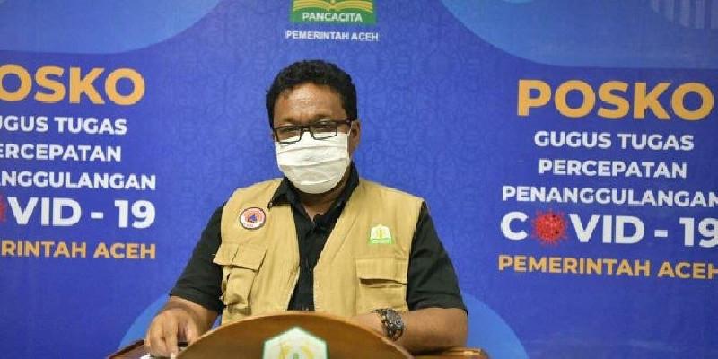 Satu Orang Sembuh, Pasien Covid-19 yang Dirawat di Aceh 980 Orang
