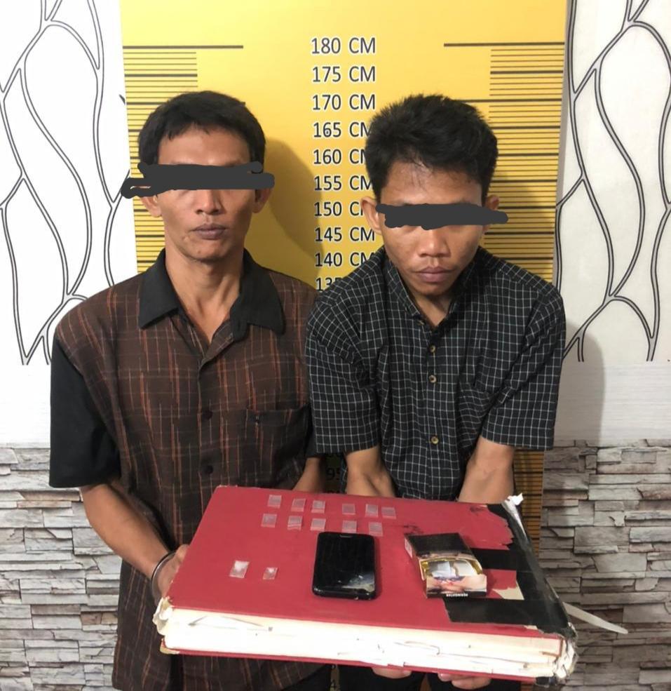 Penggerebekan, Polres Langsa Tangkap 2 Pemuda Pemakai Sabu